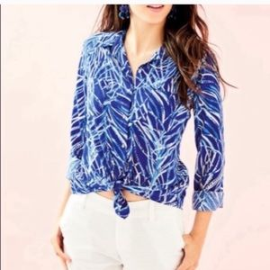 Lilly Pulitzer Sea View Voile Shirt